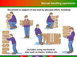 Manual handling instructor training