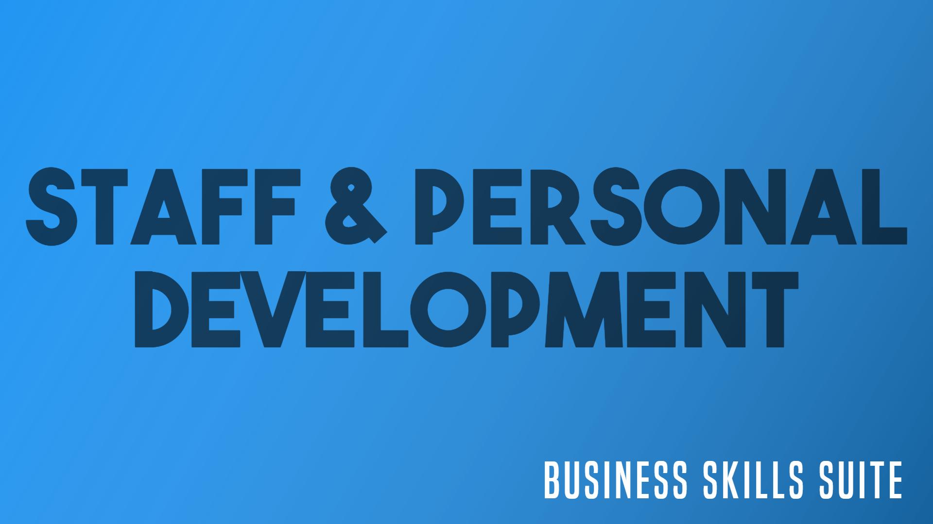 staff personal development
